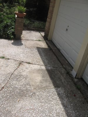 spots indicating foundation work