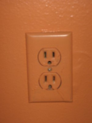 painted electrical outlet