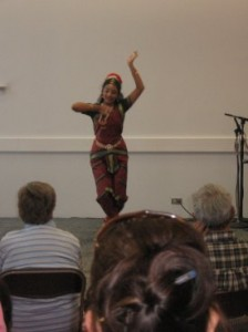 A young Indian girl from a local dance troupe