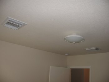 two vents in ceiling