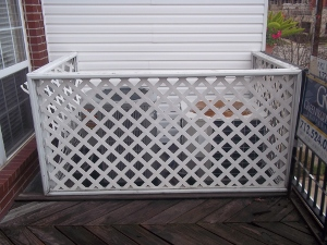 AC compressor fence