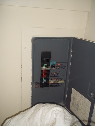 panel in closet