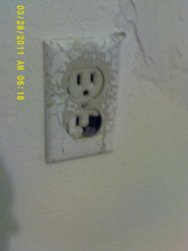 damaged outlet