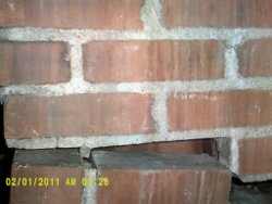gap in the chimney