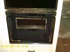damaged oven door
