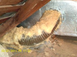 torn away insulation
