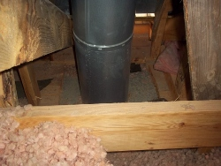 flue close to wood