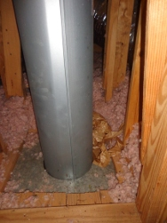 insulation on flue