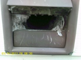 lint in dryer vent