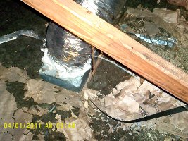 uninsulated vent box in attic