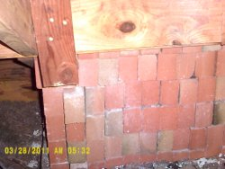 bricks for chimney in attic