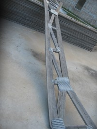 weathered roof truss