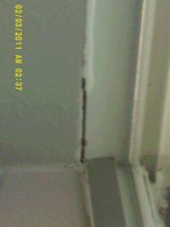interior window frame gap