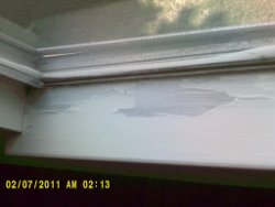 Window sill moisture