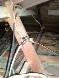 wiring connection in attic