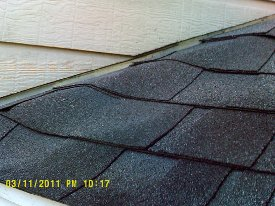 moisture damage to shingles