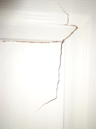 damaged door surface