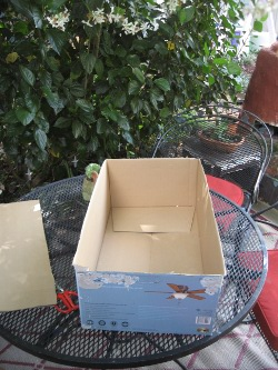box for solar oven