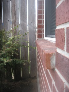 brick window sill