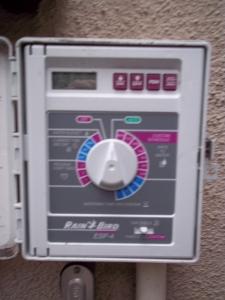 sprinkler control panel