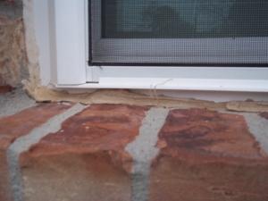 window frame slit