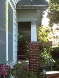 leaning porch column