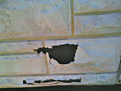 cracked wall siding