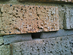 gap in mortar